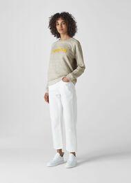Voila Logo Sweatshirt Grey Marl