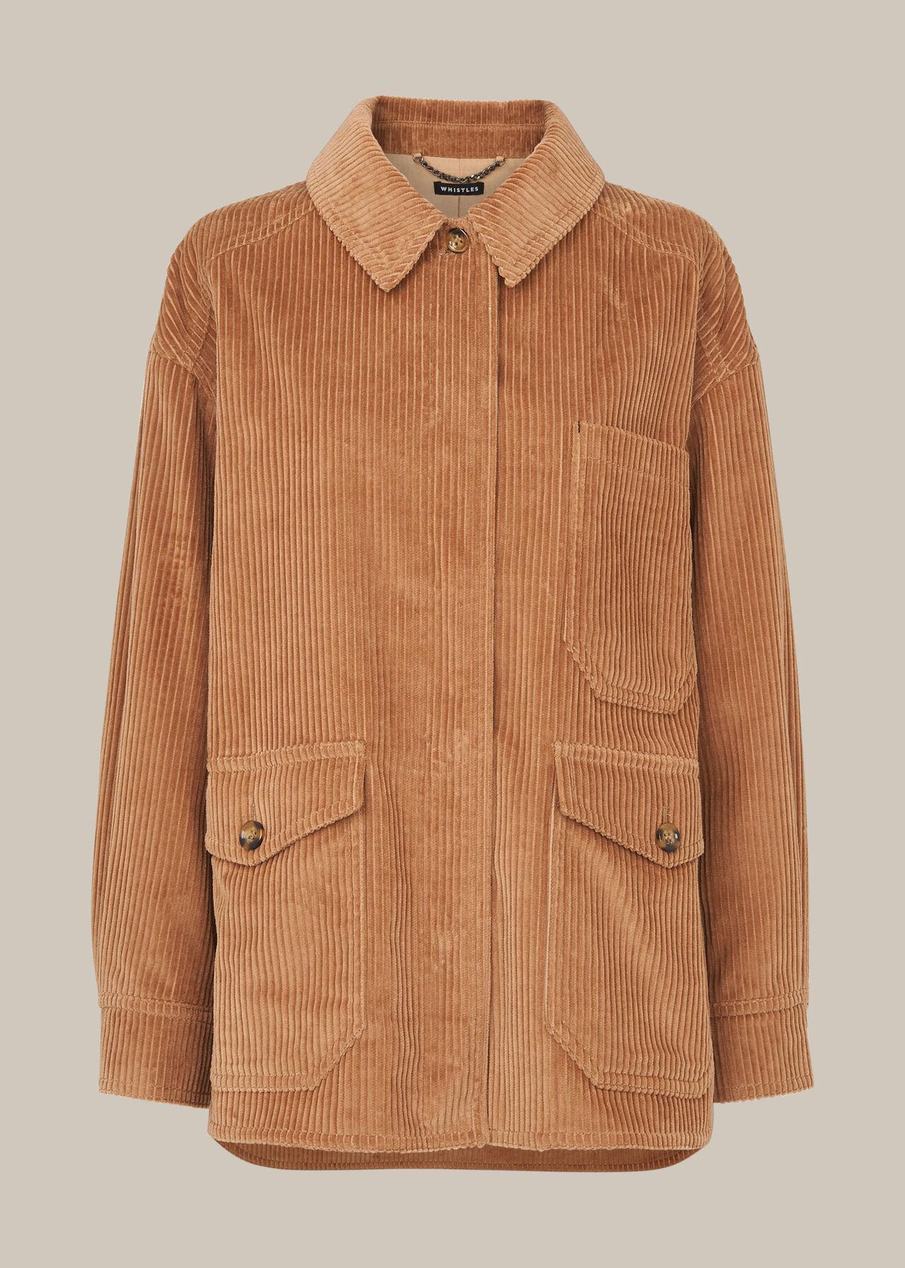 Corduroy Button Up Jacket