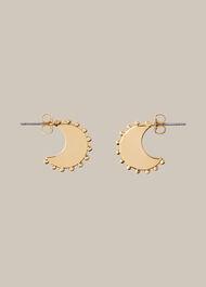 Sphere Detail Crescent Earring Gold/Multi
