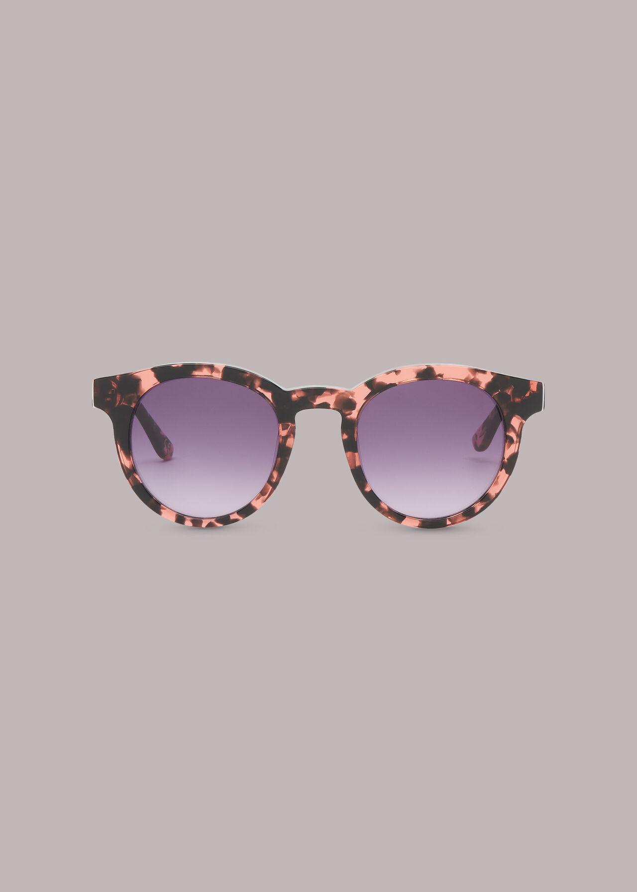 Gracie Round Tort Sunglasses