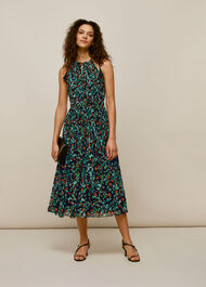 Forest Floral Halter Dress