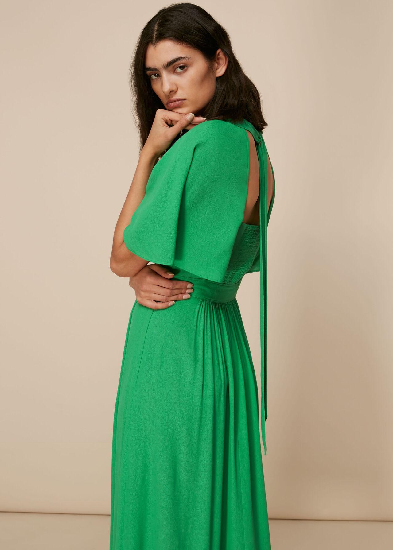 Amelia Cape Sleeve Dress