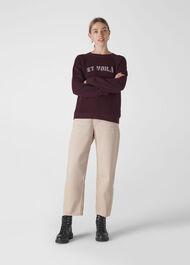 Et Voila Logo Sweatshirt Burgundy