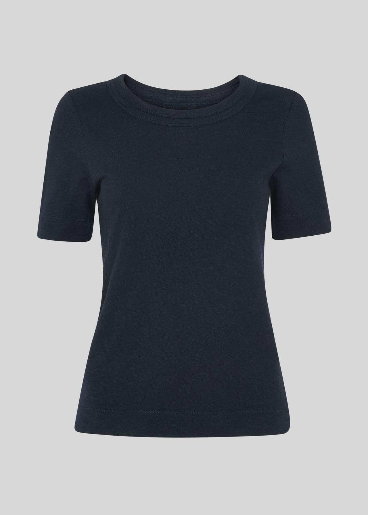 Rosa Double Trim T-shirt Navy