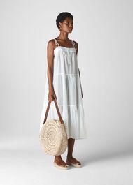 Viole Midi Beach Dress White