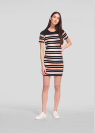 Milano Stripe Knitted Dress Multicolour
