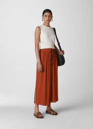 Fluid Crop Trouser Rust