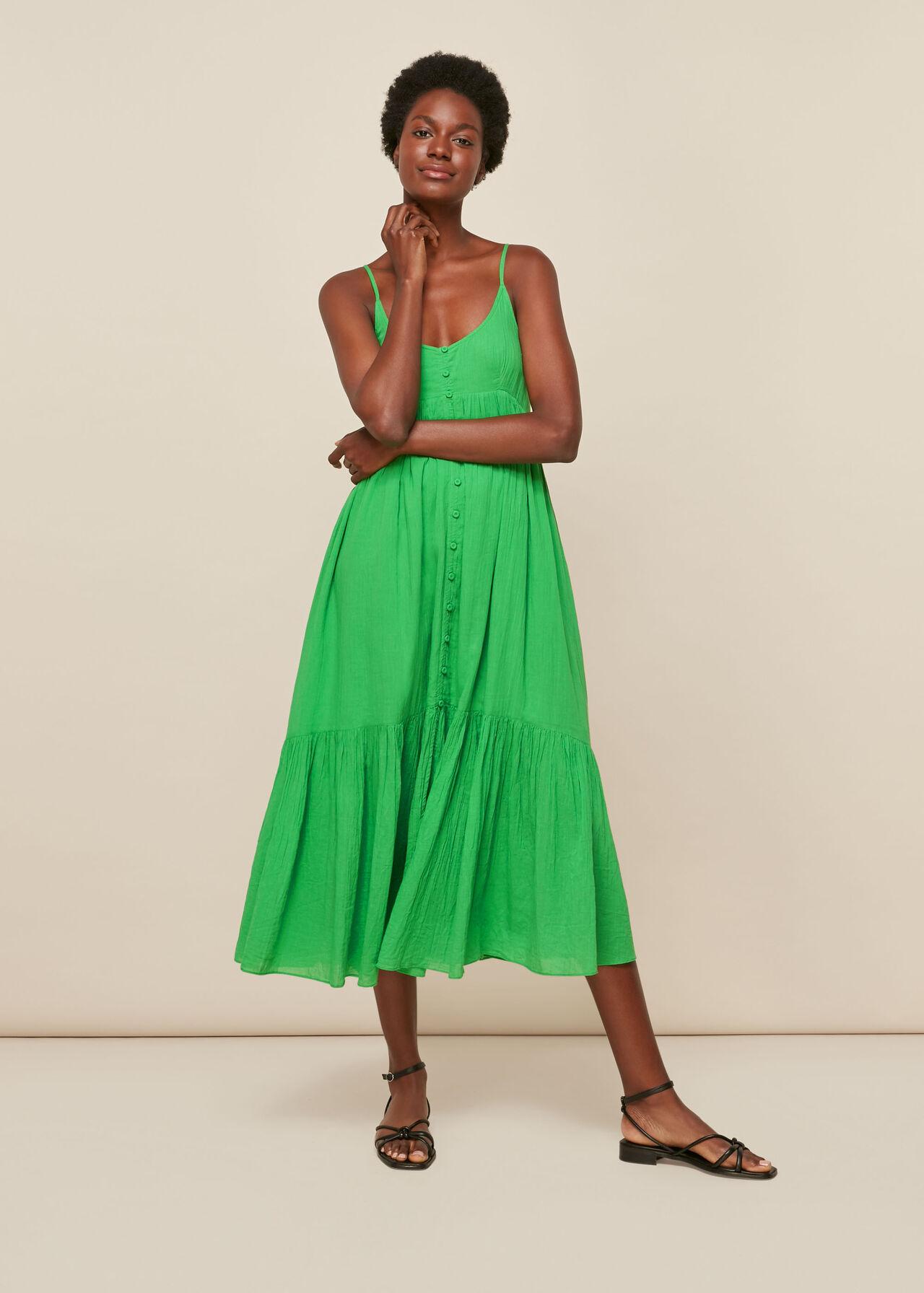 Trapeze Cotton Voile Dress