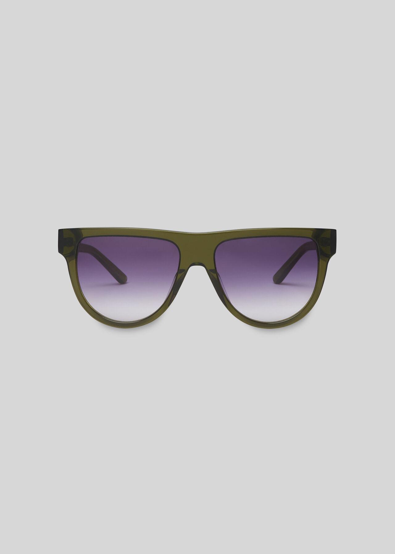 Elia Aviator Sunglasses Green