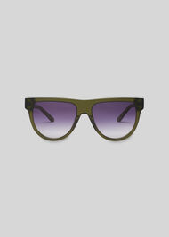 Elia Aviator Sunglasses Green