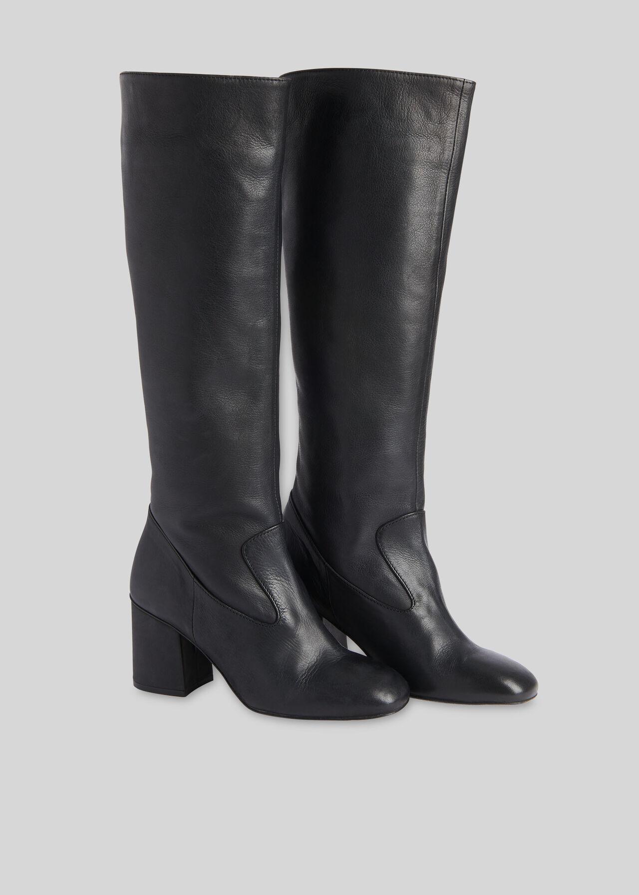 Hazel Knee High Boot Black