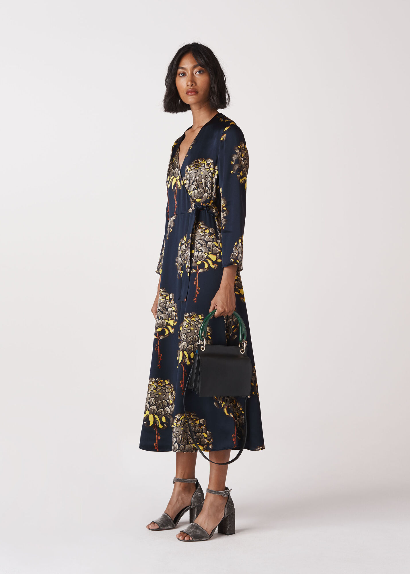Gabrielle Silk Wrap Dress