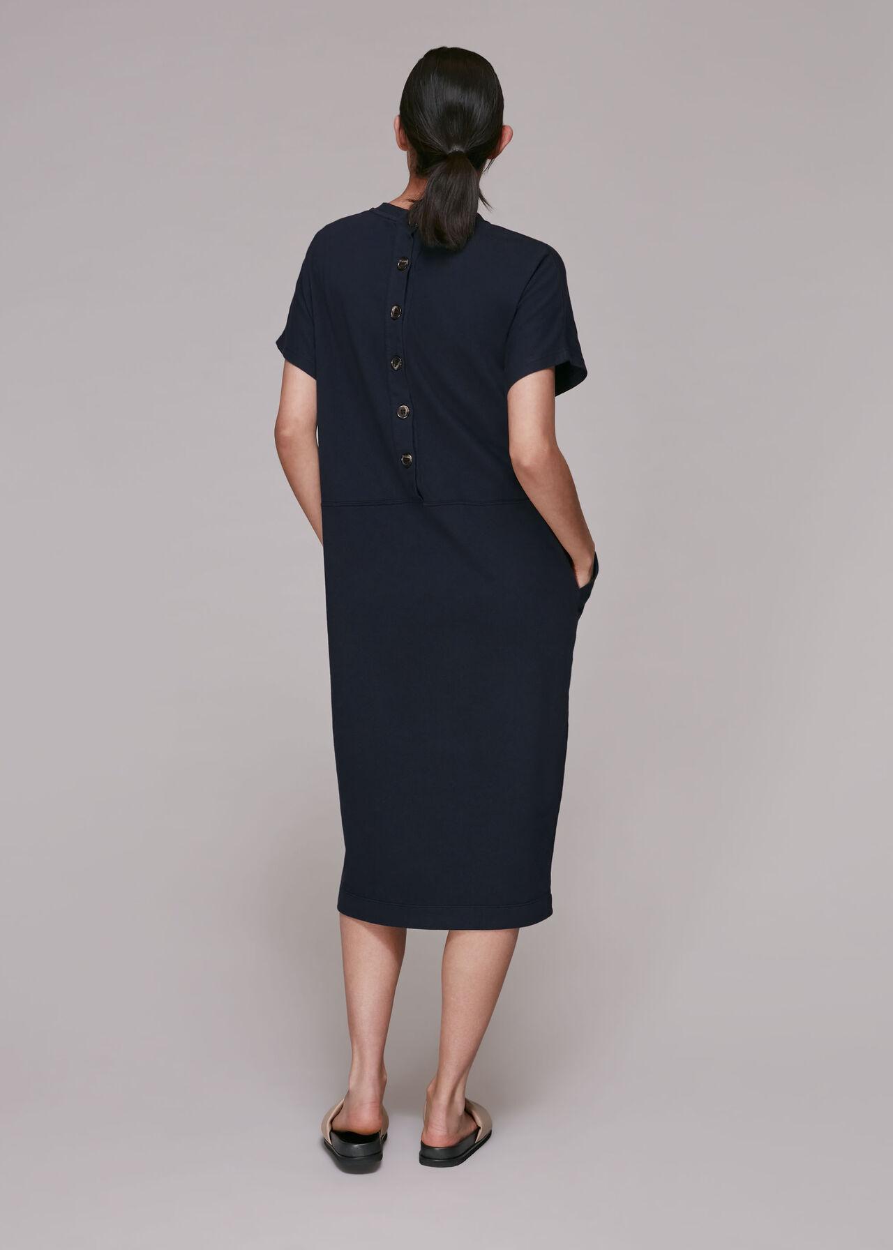 Elsie Button Back Jersey Dress