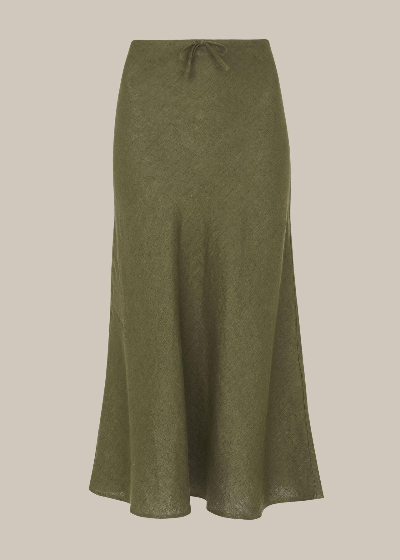 Linen Bias Cut Skirt