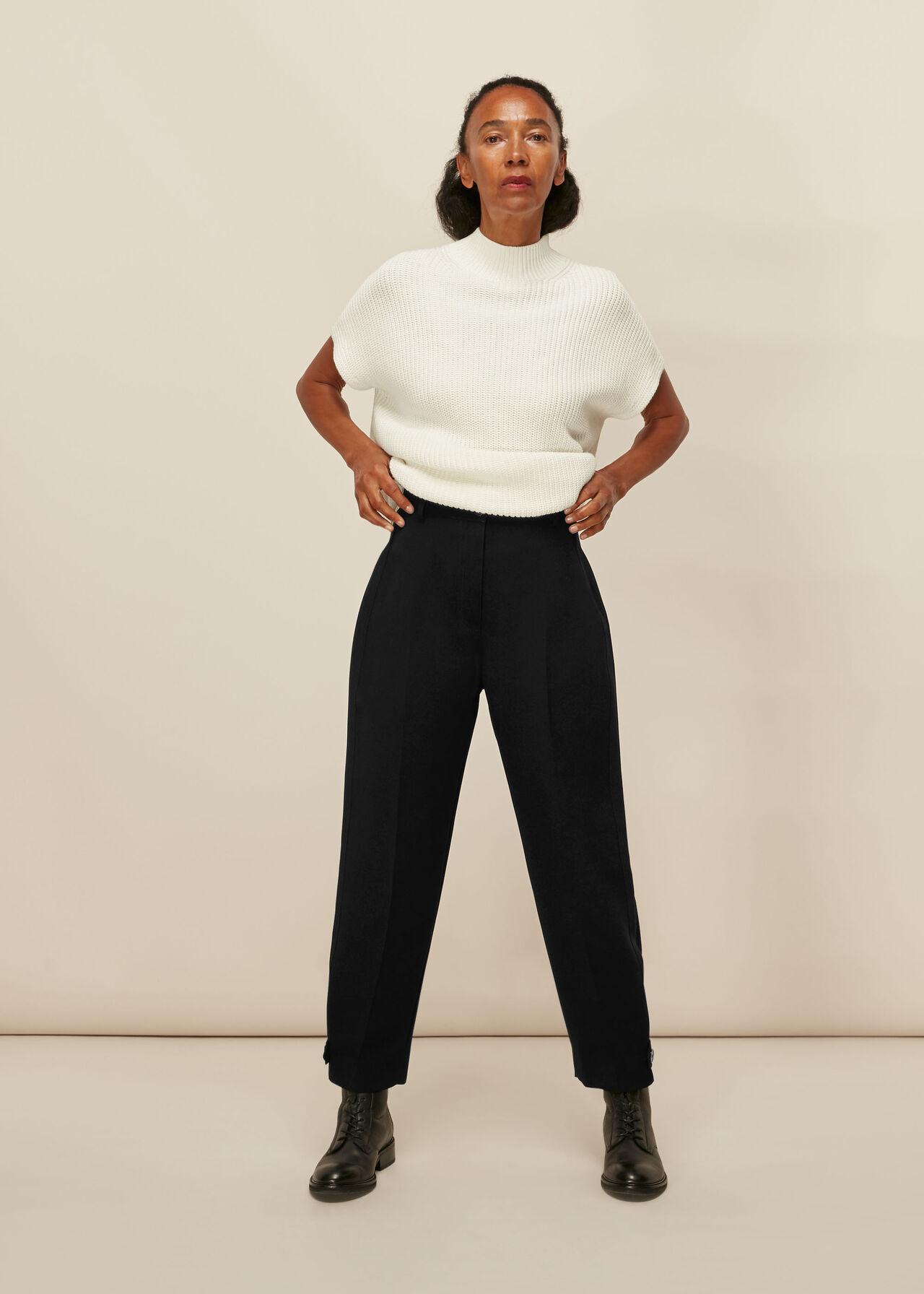 Paula Crepe Peg Trouser