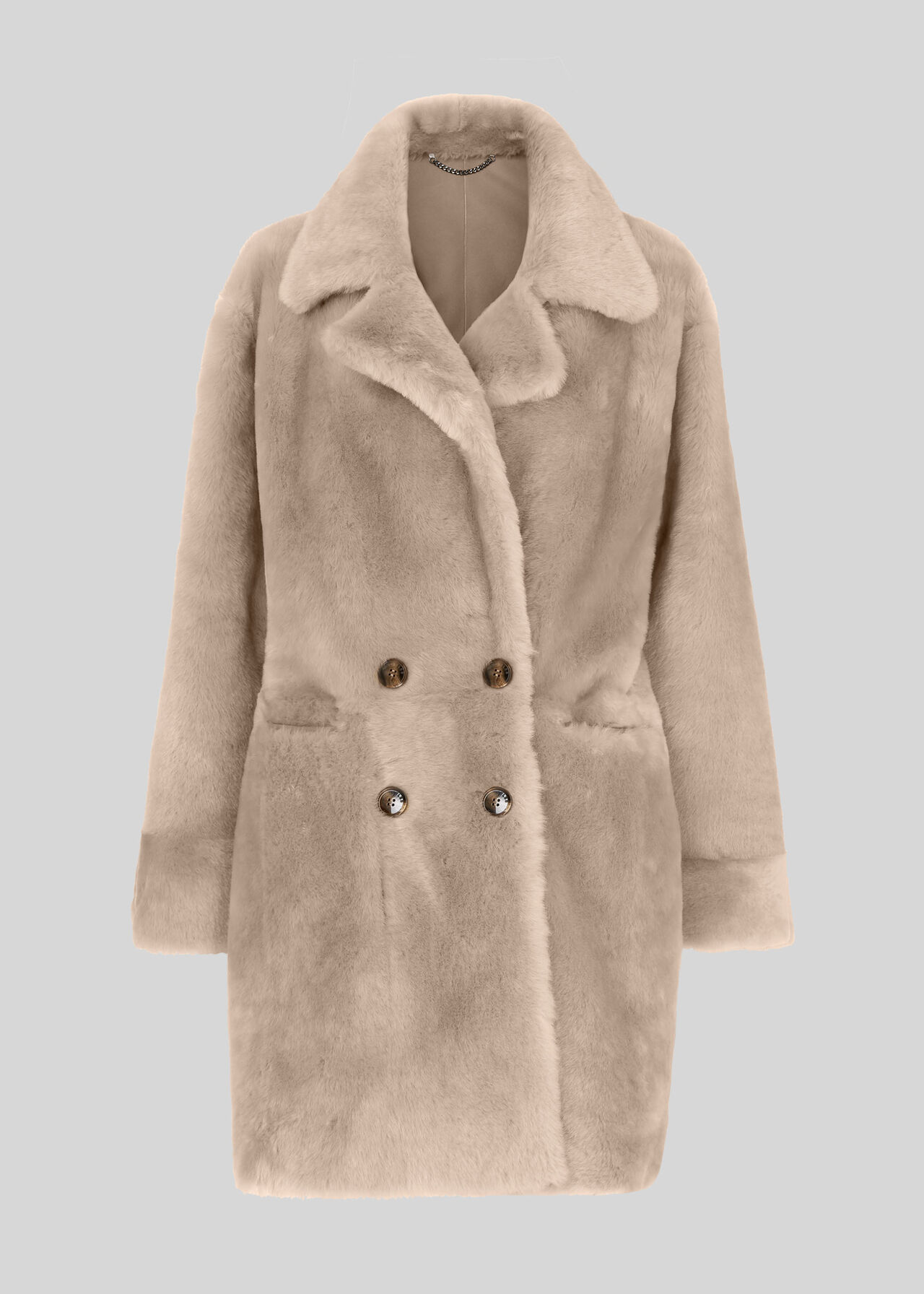 Jude Shearling Coat Grey