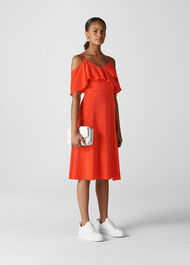 Frill Detail Dress Flame