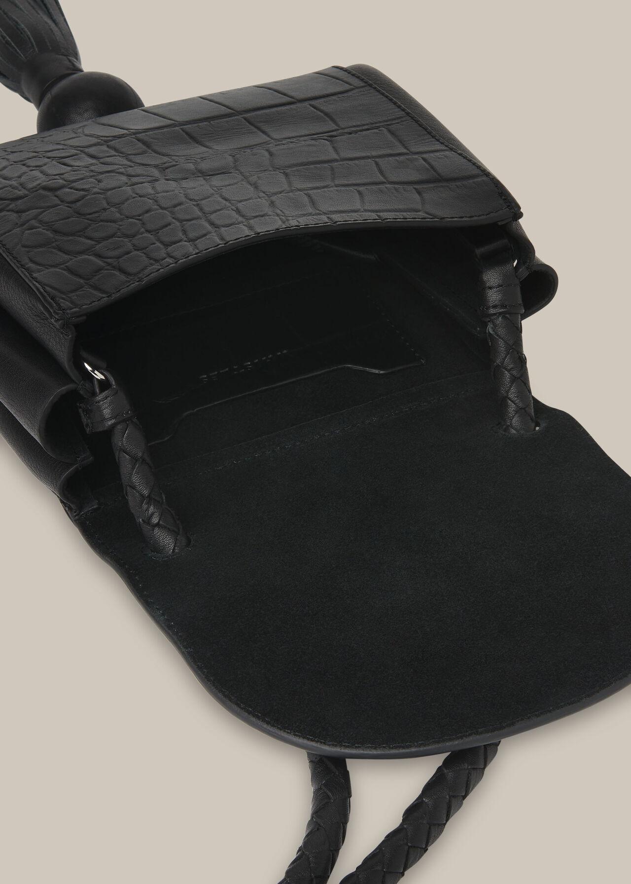 Arden Croc Tassel Bag