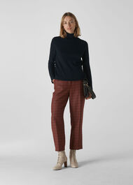Kate Classic Check Trouser Red/Multi