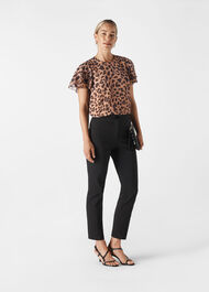 Brushed Cheetah Shell Top Leopard Print
