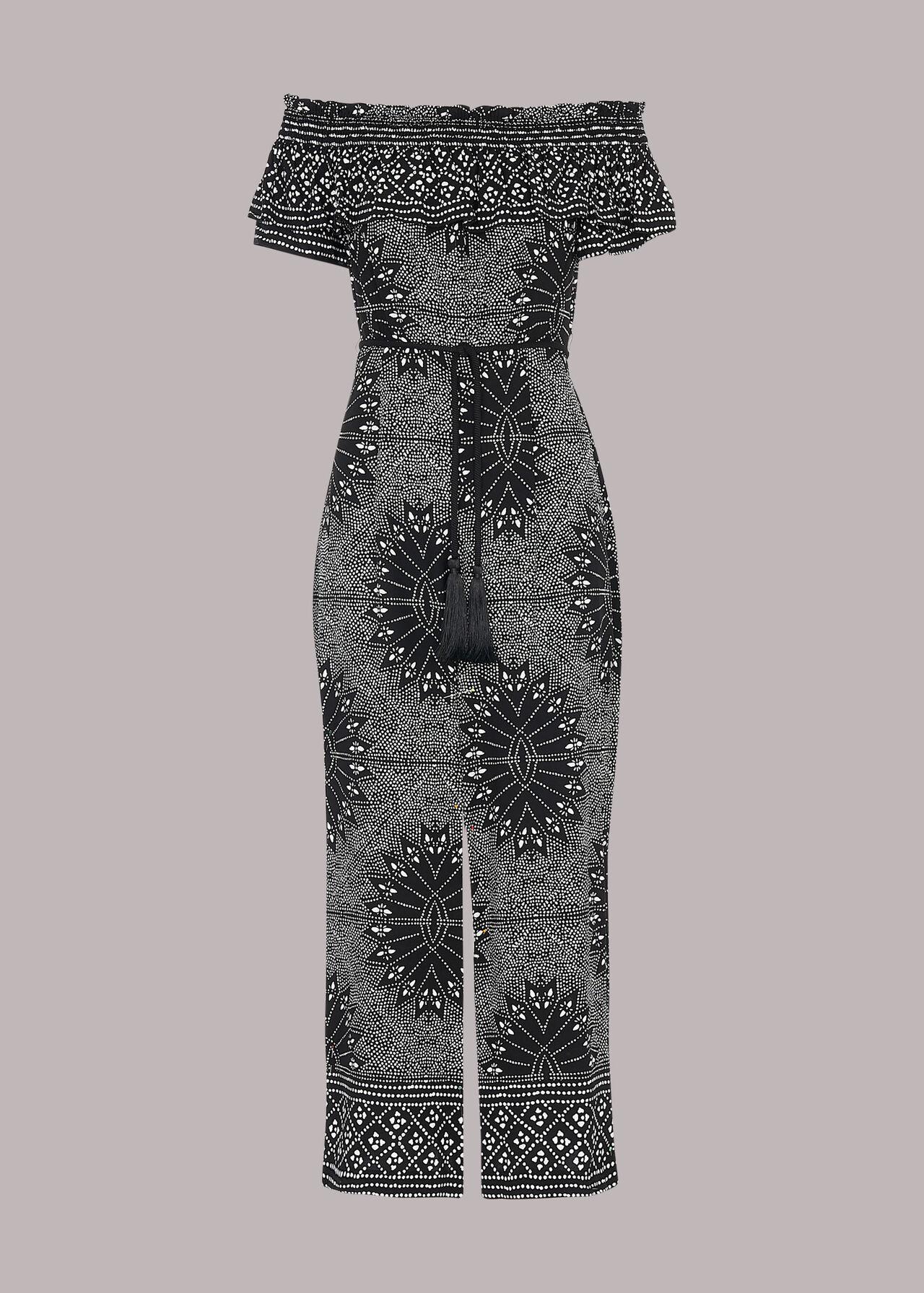 Bleached Print Bardot Jumpsuit