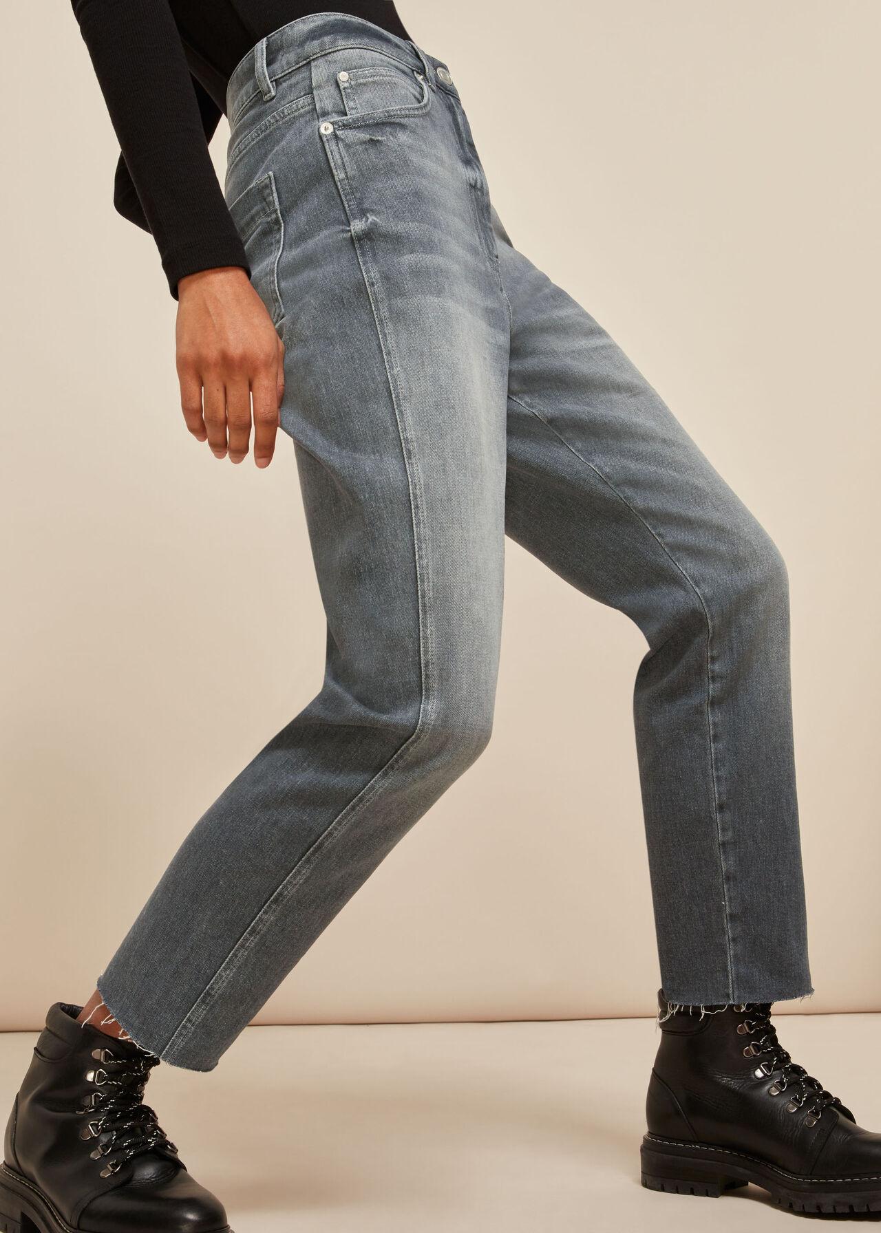 Slim Frayed Detail Jean