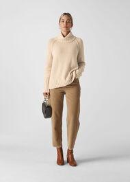 Chunky Cashmere Knit Ivory