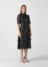 Ivanna Sequin Dress Black/Multi