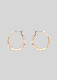 Curved Hoop Earring Gold/Multi