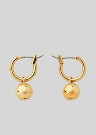 Mini Hoop Sphere Earring Gold