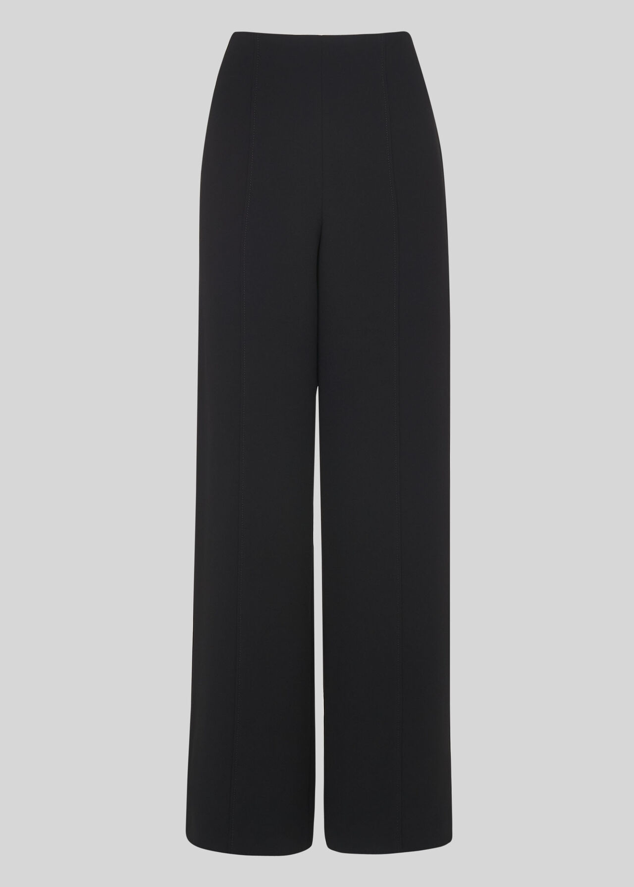 Wide Leg Crepe Trouser Black