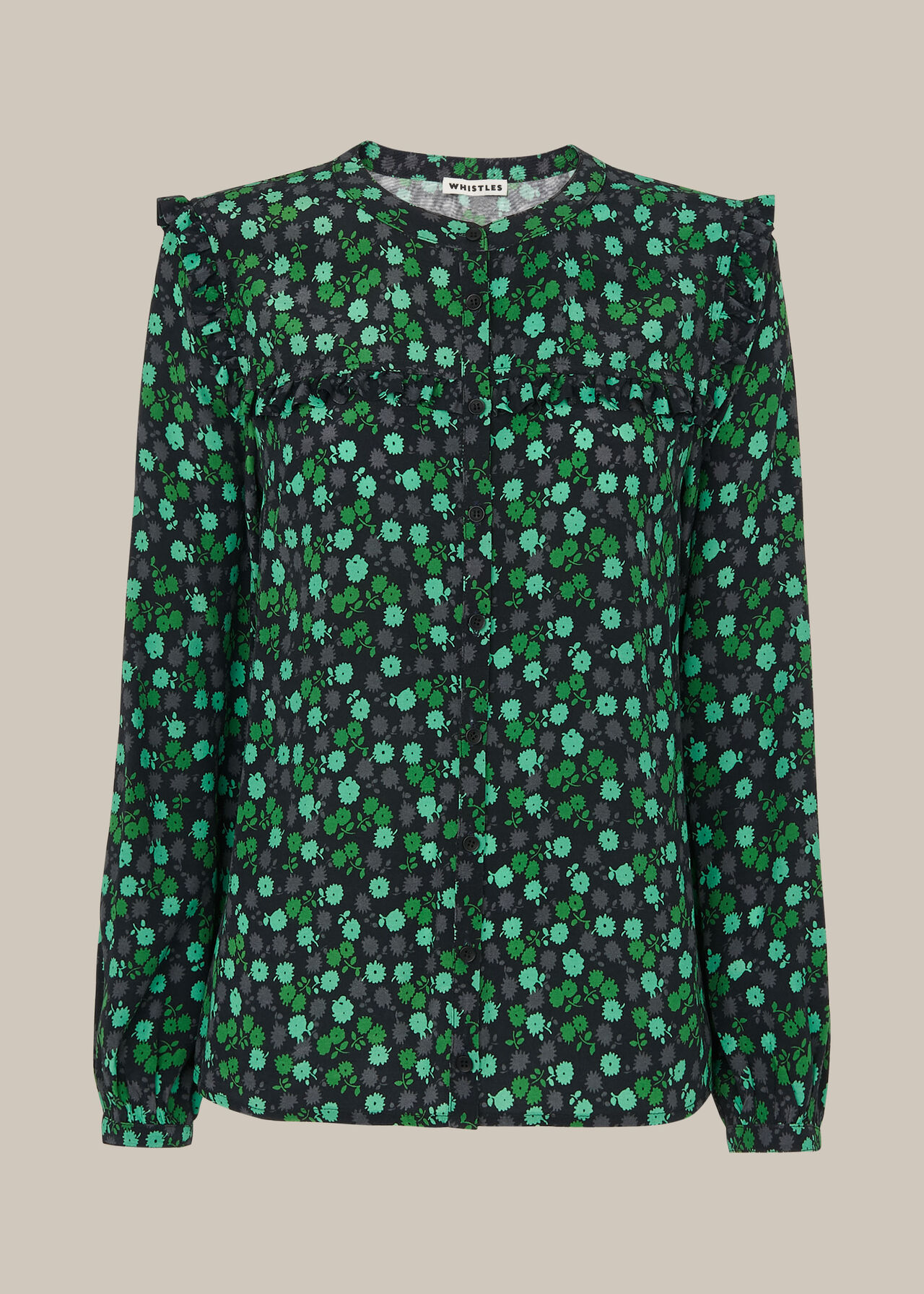 Winter Ditsy Printed Top