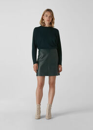 Cashmere Crew Neck Sweater Dark Green