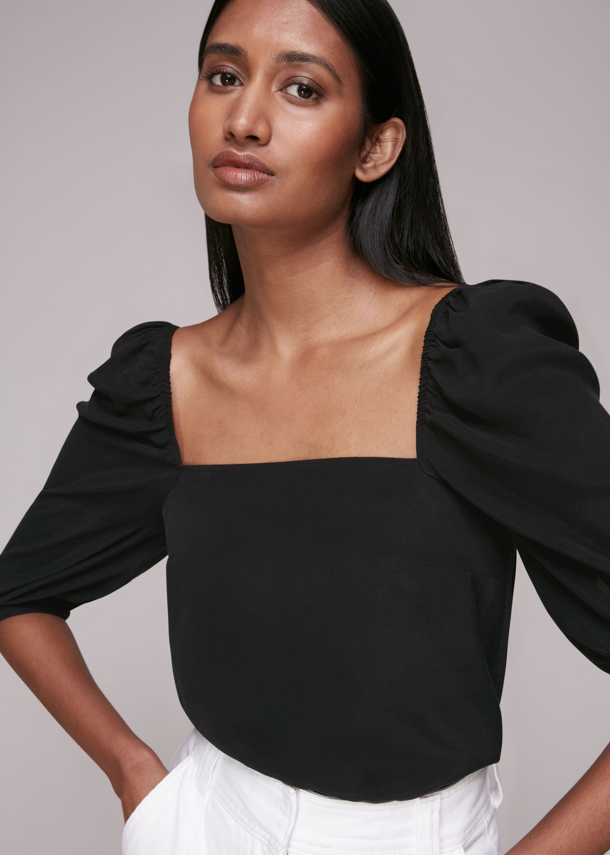 Whistles Women Blanche Square Neck Top