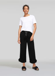 Boho Trim Trouser Black