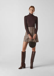 Essential Polo Neck Brown