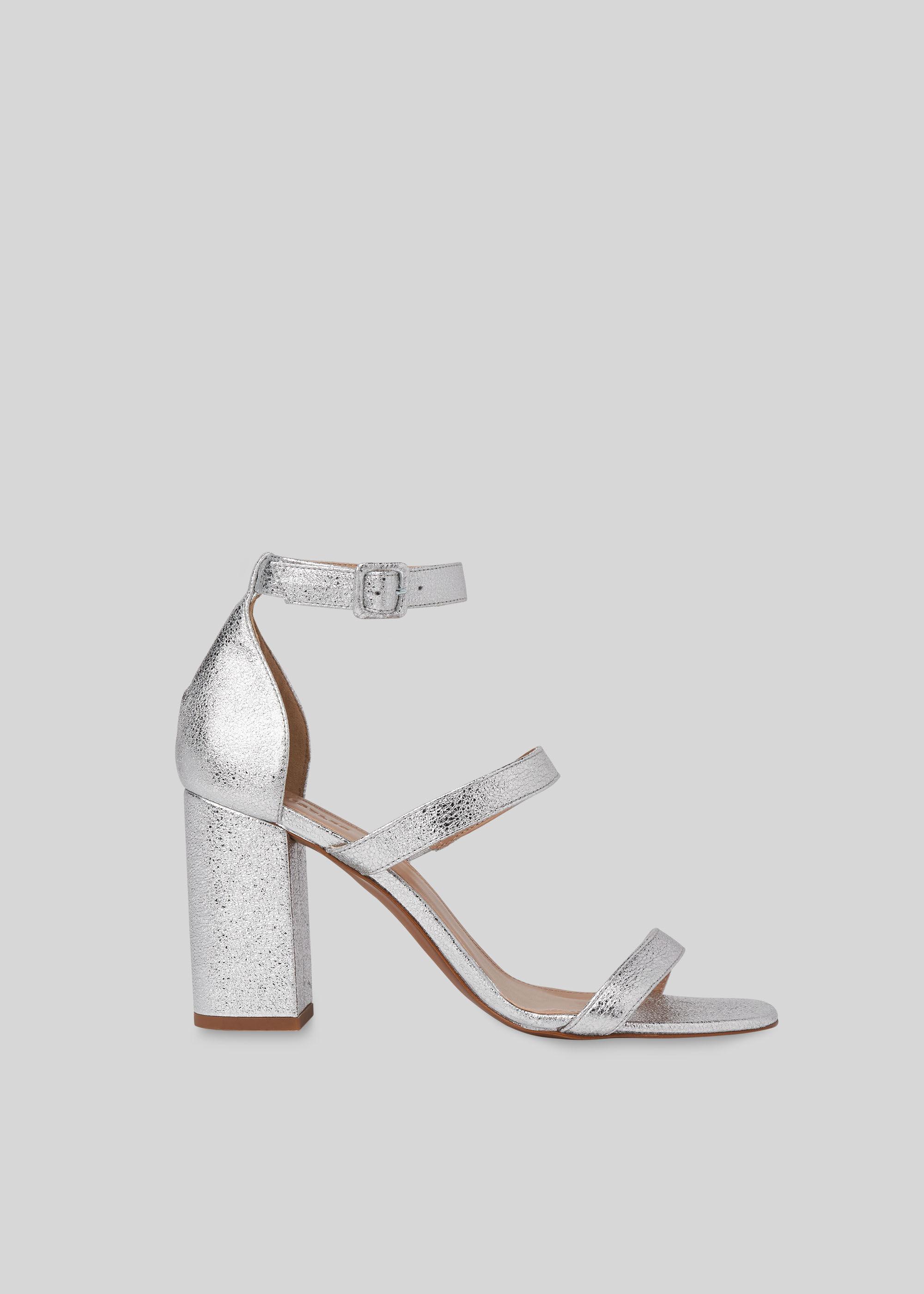 Silver Hayes Block Heel Sandal