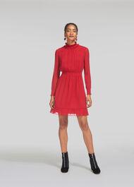 Ilona Dobby Dress Red