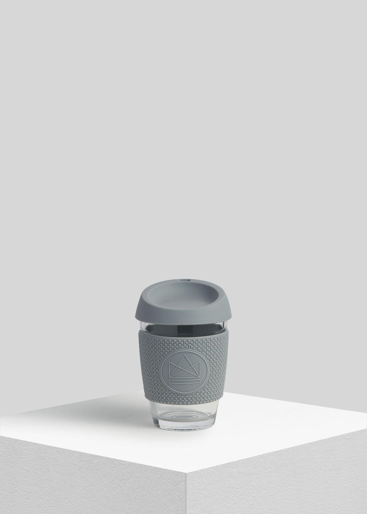 Neon Kactus Reusable Glass Cup Grey