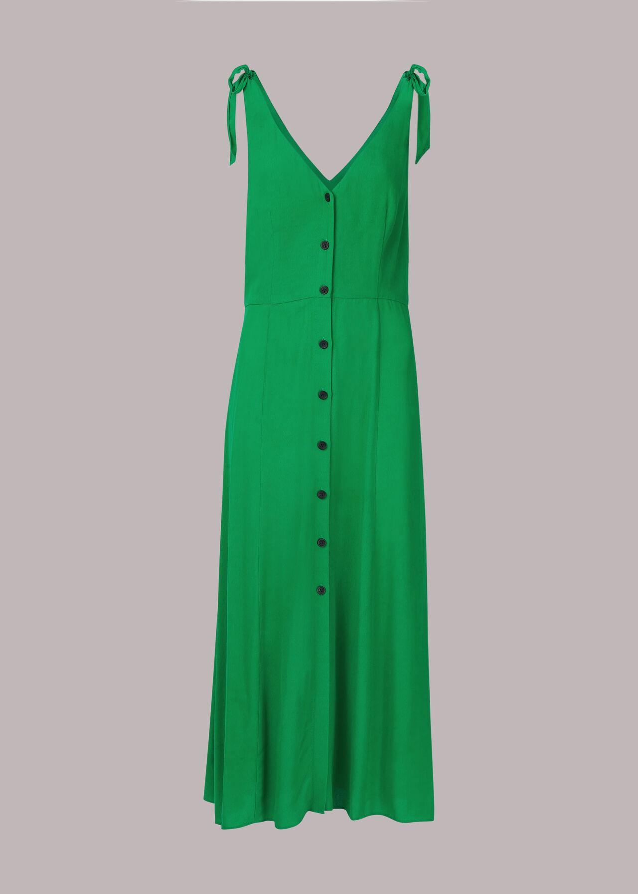 Hanna Tie Shoulder Dress Green