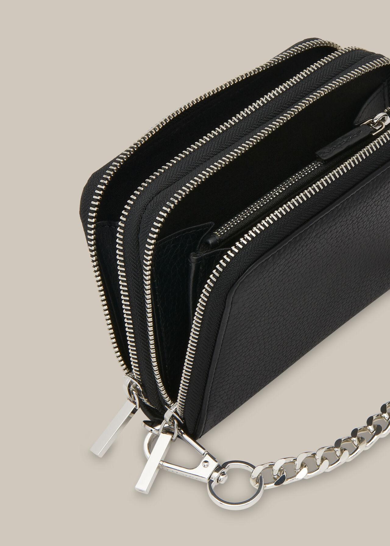 Safia Double Zip Chain Bag