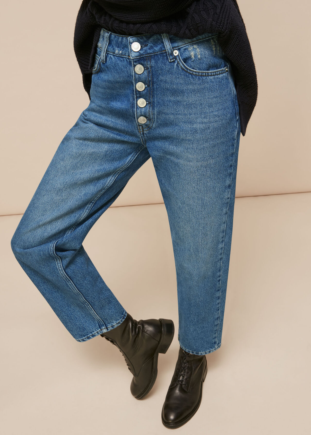 Hollie Button Front Jean