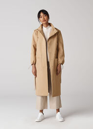Minimal Gathered Collar Trench Neutral