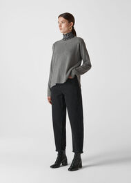 Cashmere Crew Neck Sweater Grey Marl