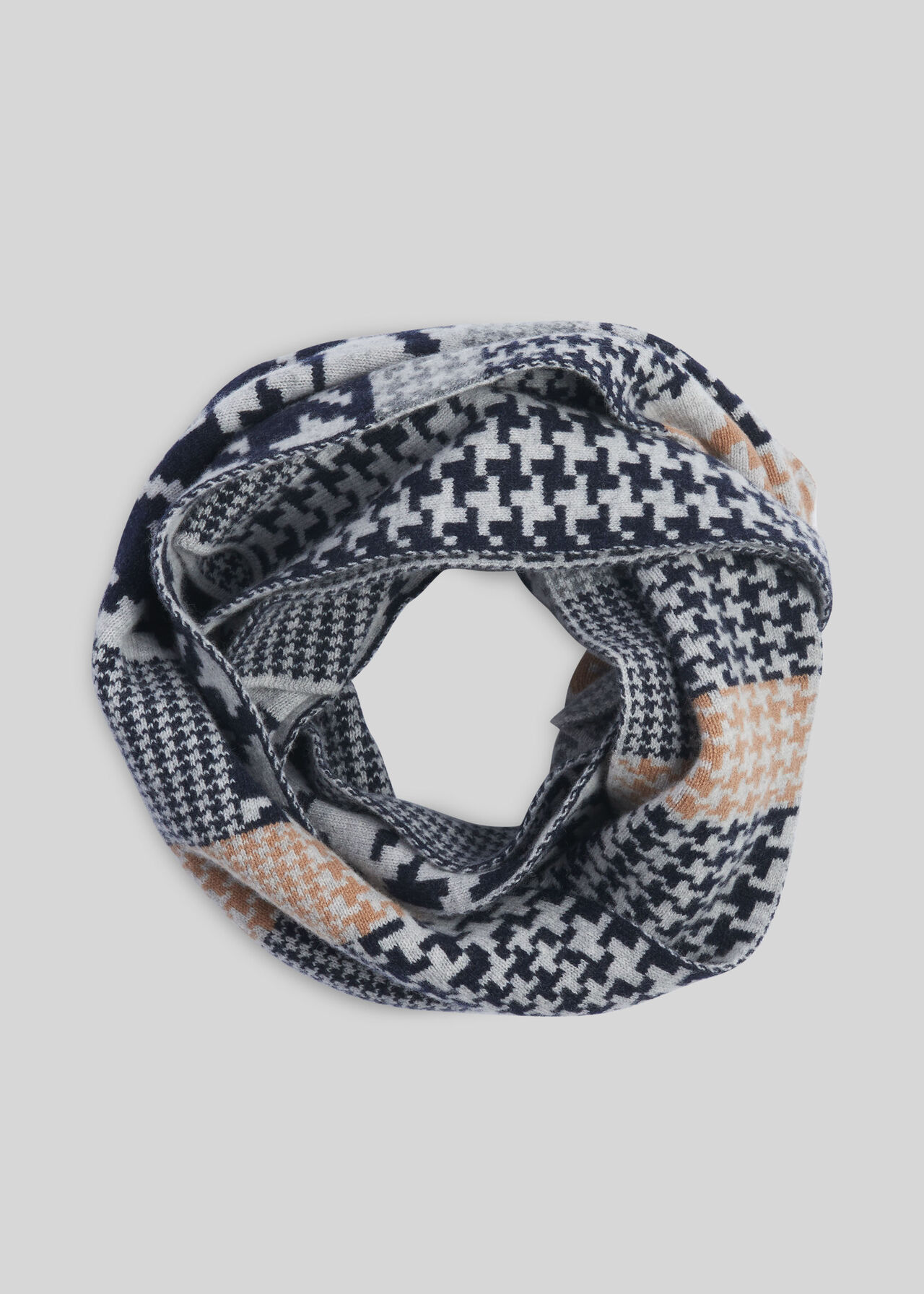 Green Thomas Houndstooth Scarf Red/Multi