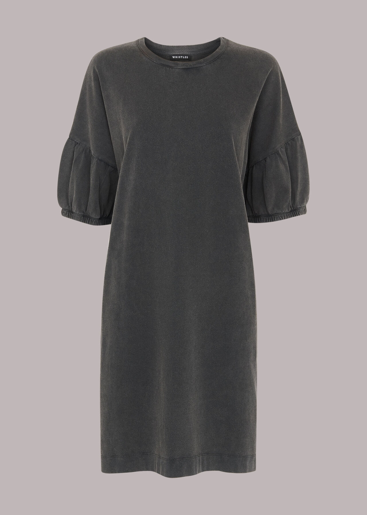 Gathered Sleeve Jersey Dress