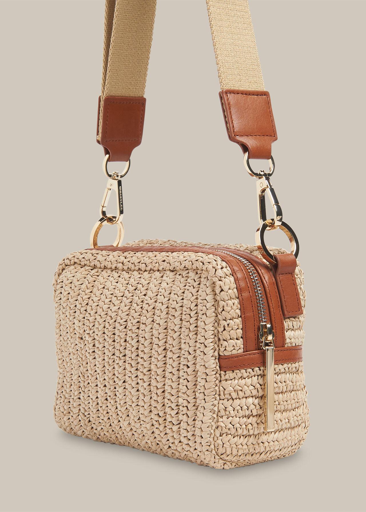 Straw Bibi Crossbody Bag