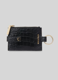 Keyring Coin Purse Black