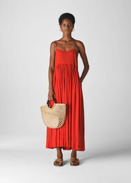 Carmen Trapeze Dress Red
