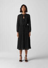 Nicolette Animal Devore Dress Black